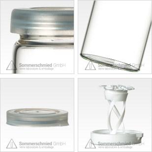 Tube en verre pour les comprimés, exclusif pour les produits pharmaceutiques, verre brun